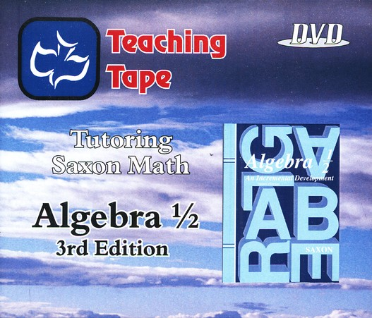 Teaching Tape Full Set DVDs: Saxon Math Algebra 1/2, 3rd Edition