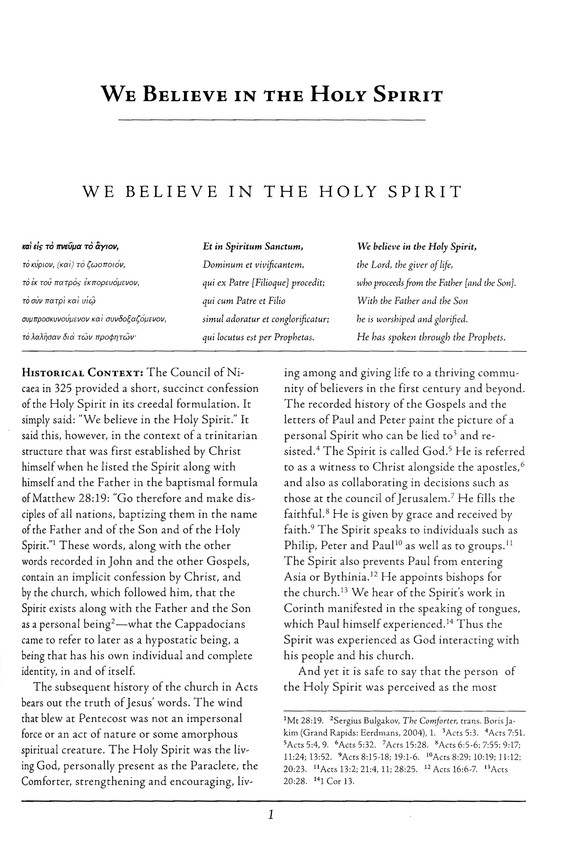 We Believe in the Holy Spirit: Ancient Christian Doctrine Series [ACD]
