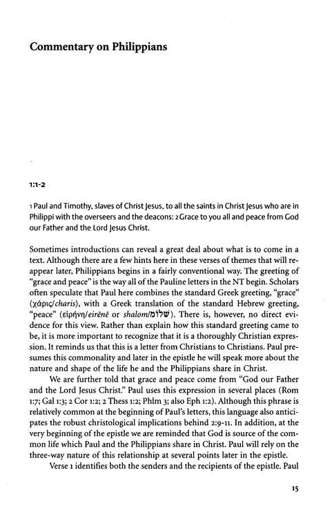 Philippians: Two Horizons New Testament Commentary [THNTC]