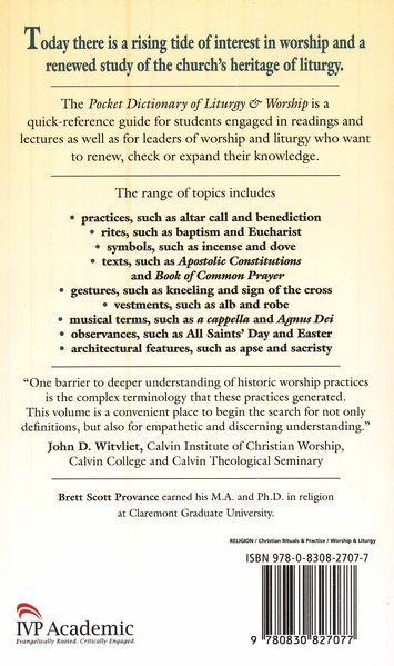 Pocket Dictionary of Liturgy & Worship