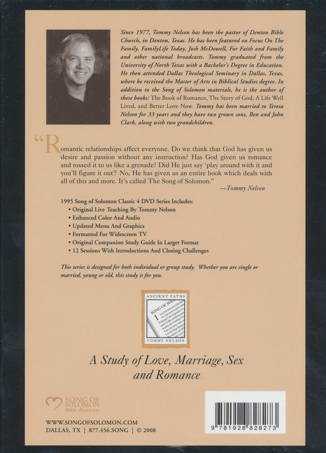 The Song of Solomon Classic DVD Curriculum with Study Guide: A Study of Love, Marriage, Sex and Romance