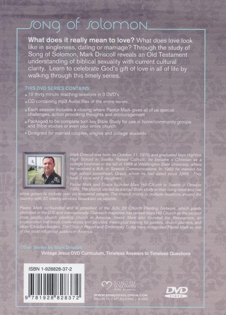 Song of Solomon DVD Curriculum with Mark Driscoll