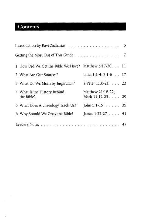 Can I Trust the Bible? RZIM Critical Questions Discussion Guides