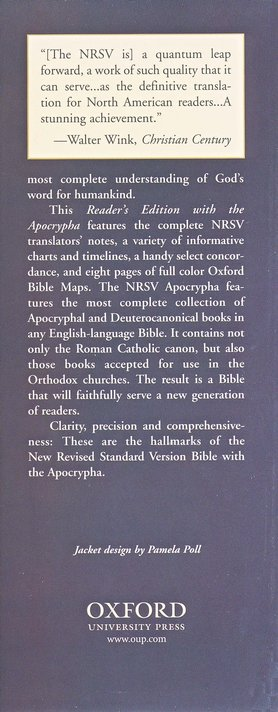 NRSV Text Edition With Apocrypha Hardcover, blue w/jacket
