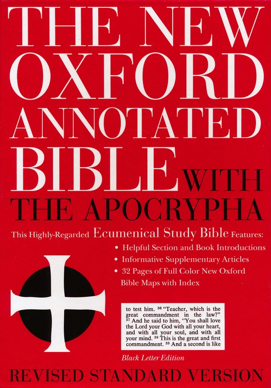 RSV New Oxford Annotated Bible with Apocrypha, Genuine leather, Black