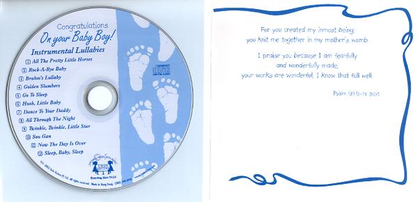 Congratulations on Your Baby Boy! Musical CD Greeting Card