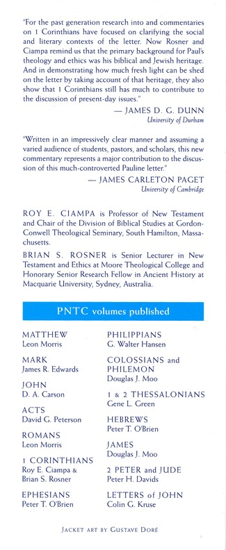 The First Letter to the Corinthians: Pillar New Testament Commentary [PNTC]