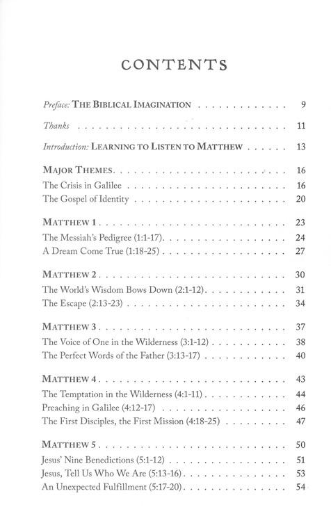 Matthew: The Gospel of Identity (The Biblical Imagination Series)