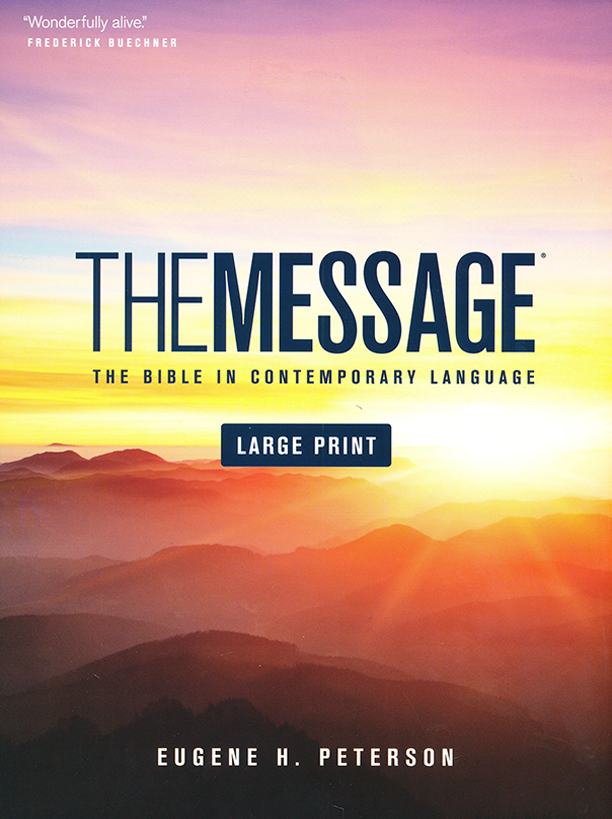 The Message Bible: Large Print Edition