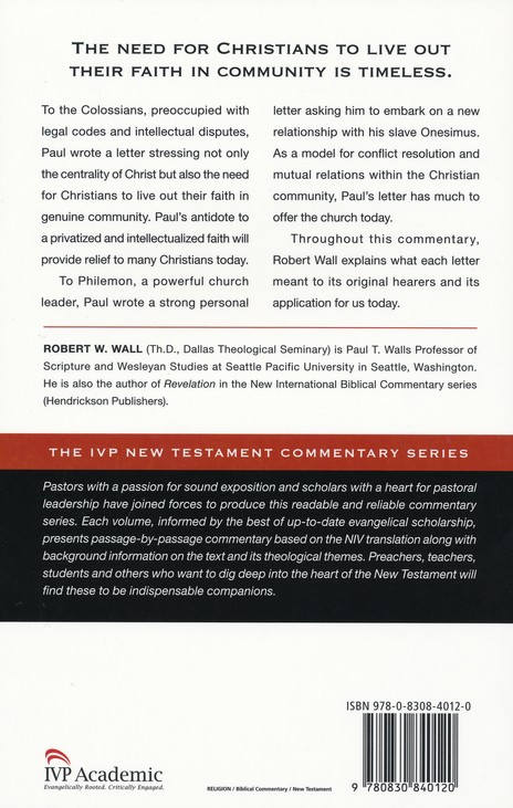 Colossians & Philemon: IVP New Testament Commentary [IVPNTC]
