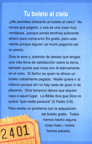 Tu Boleto al Cielo, 25 Tratados  (Your Ticket to Heaven, 25 Tracts)