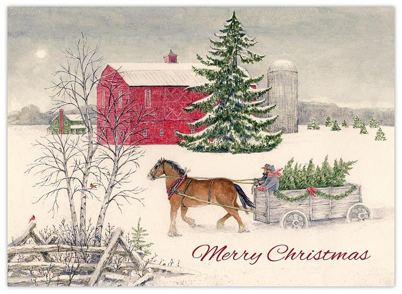 Boxed Christmas Cards.Christmas Wagon Boxed Christmas Cards