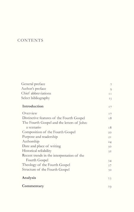 John: Tyndale New Testament Commentary [TNTC]