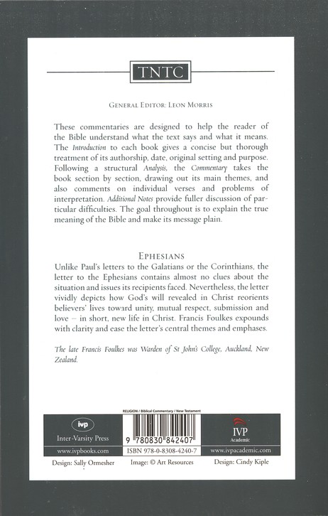 Ephesians: Tyndale New Testament Commentary  [TNTC]