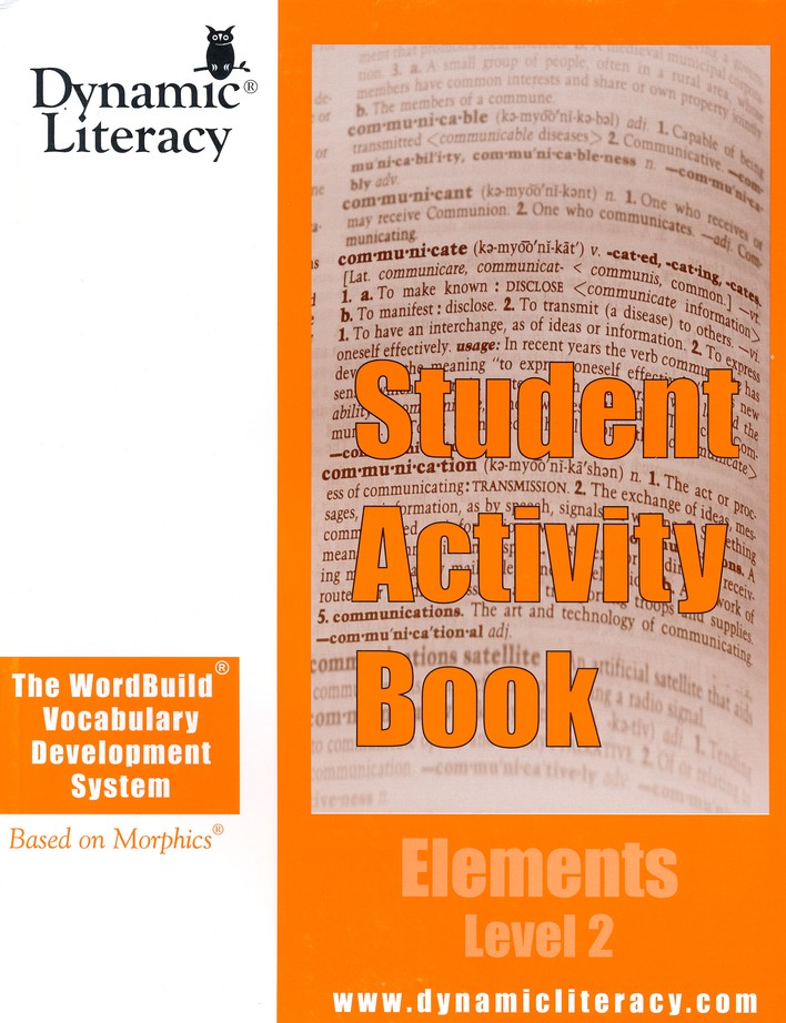 The WordBuild &#174 Vocabulary Development System Elements Level 2 Student Activity Book
