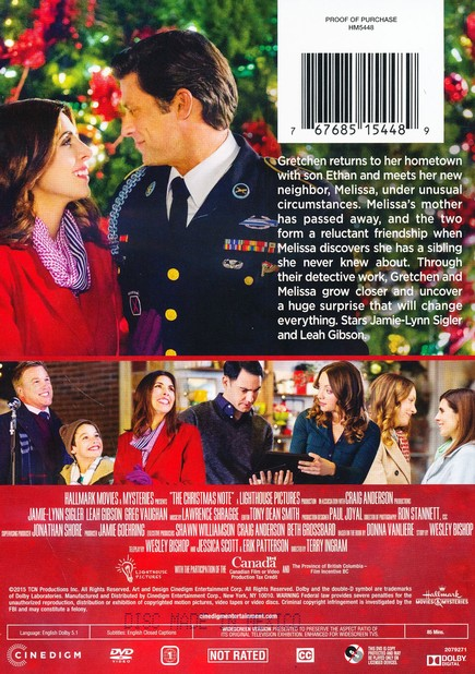 The Christmas Note.The Christmas Note Dvd