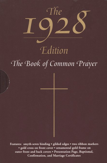 The 1928 Book of Common Prayer, Bonded Leather, Burgundy, with slipcase