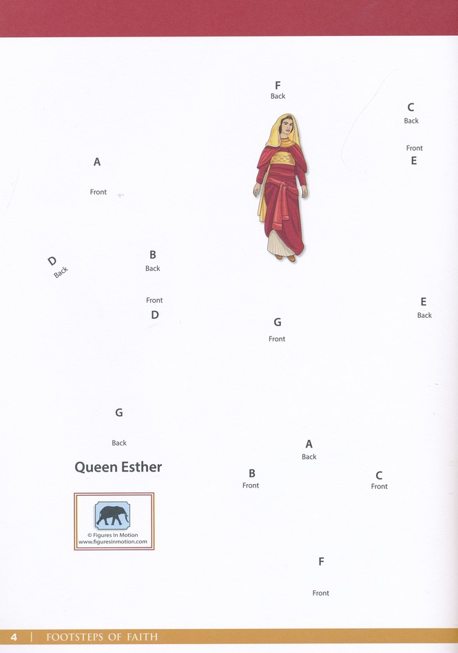 Footsteps Of Faith Queen Esther Movable Paper Figures To Cut