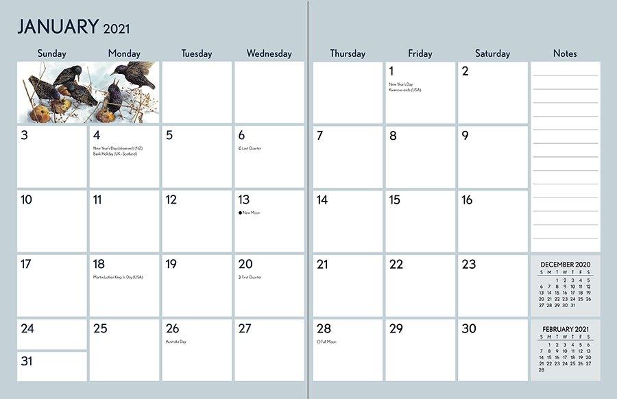 Marjolein Bastin Nature/'s Inspiration 2021 Deluxe Wall Calendar Calendar