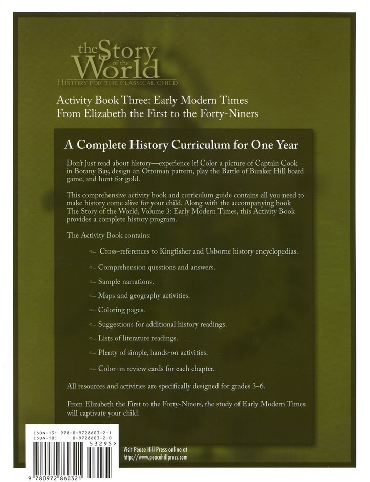 Activity book vol 3 early modern times story of the world susan activity book vol 3 early modern times story of the world susan wise bauer 9780972860321 christianbook gumiabroncs Gallery