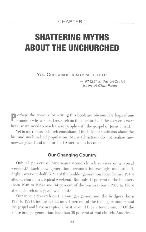 Surprising Insights from the Unchurched and Proven Ways to Reach Them