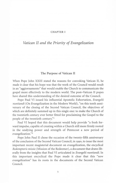 Will Many Be Saved? What Vatican II Actually Teaches and Its Implications for New Evangelization