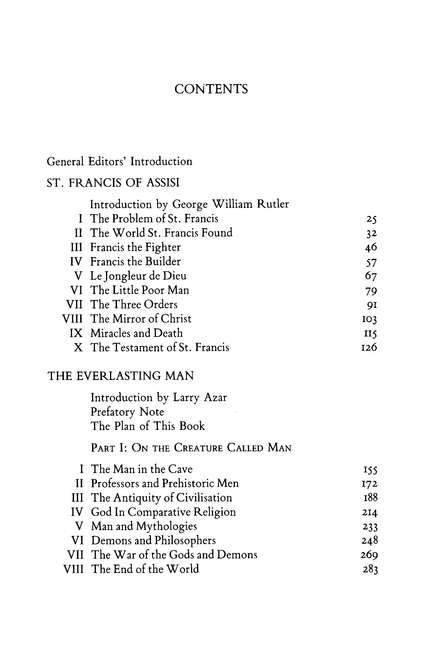 Collected Works of G. K. Chesterton Volume II: The Everlasting Man- St. Francis of Assisi
