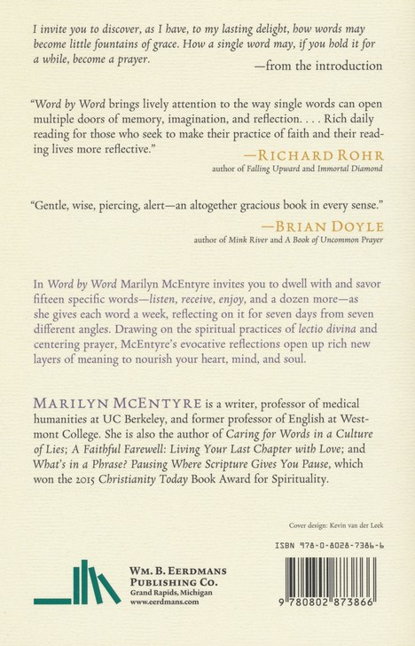 word by word a daily spiritual practice marilyn chandler mcentyre