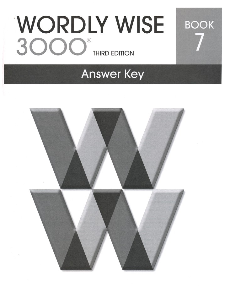 Wordly Wise 3000 3rd Edition Answer Key Book 7