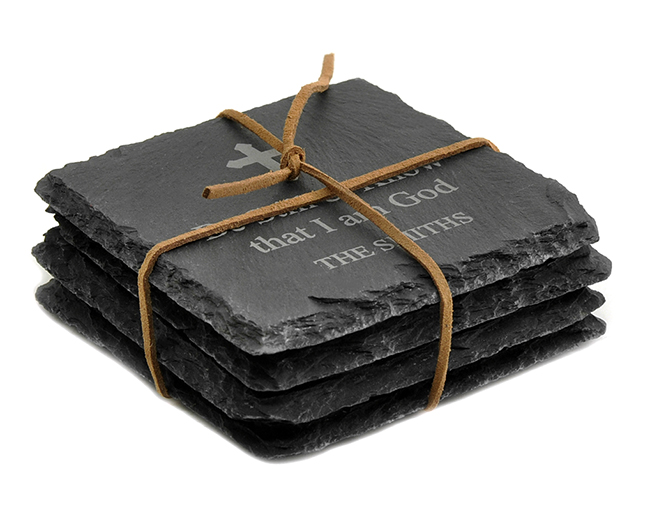 Personalized Square Slate CoastersSet of 4