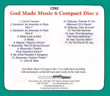 God Made Music Grade 6, Volume 2 CD