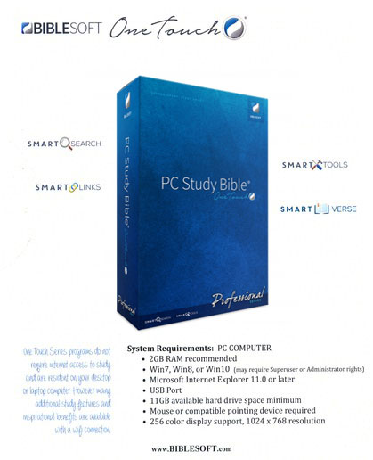 One Touch PC Study Bible Professional Series (Thumb Drive