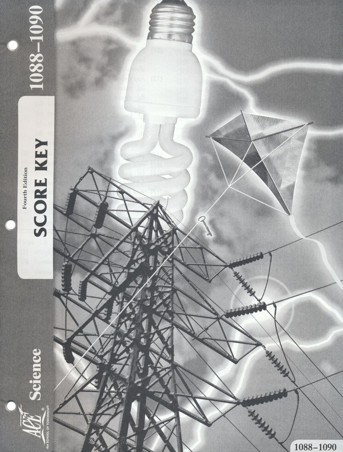 Science ACE PACE 1088-1090, Grade 8, 4th Edition SCORE KEY