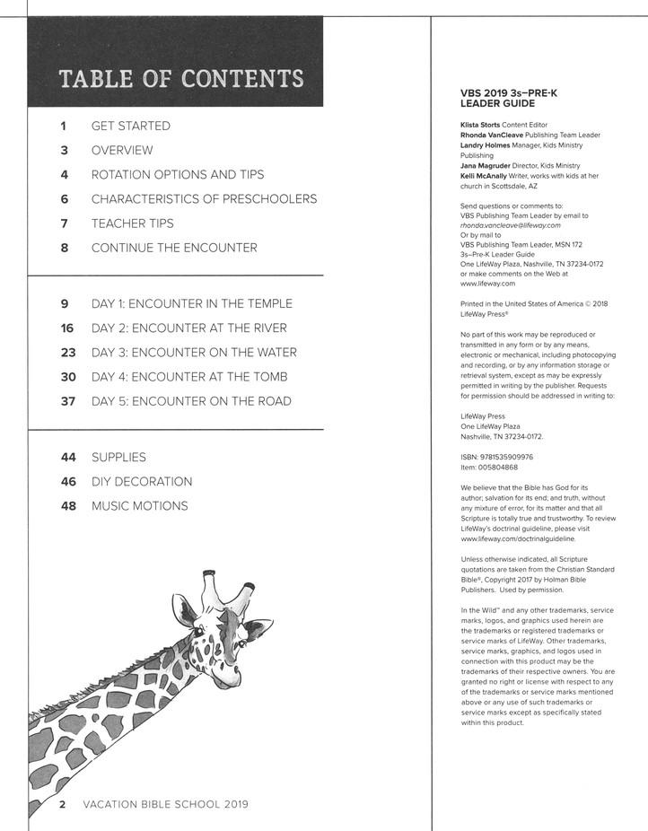 In The Wild: 3s - Pre-K Leader Guide