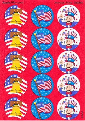 American Pride Scratch and Sniff Stickers  (Apple Pie)