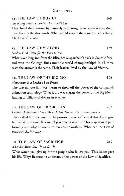 The 21 Irrefutable Laws Of Leadership 10th Anniversary Edition