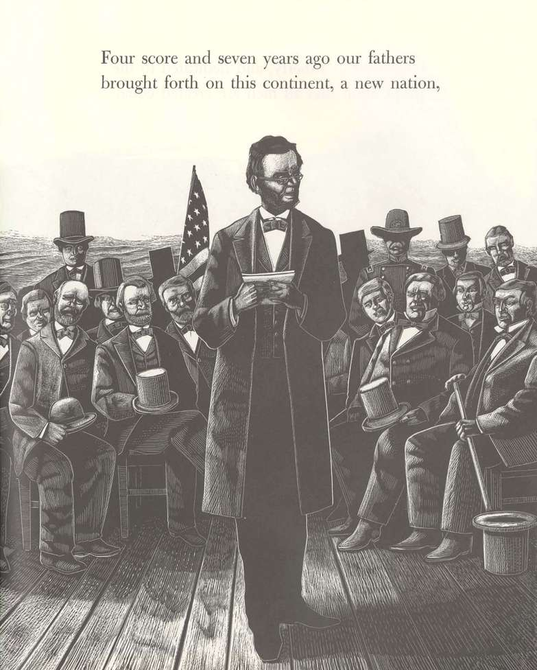 The Illustrated Gettysburg Address by Roberta Landon; Abraham Lincoln