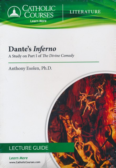 dantes inferno a study on part i of the divine comedy dvd anthony esolen phd 9781618900203 christianbookcom