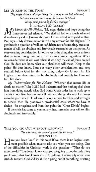 My Utmost for His Highest, The Christian Library