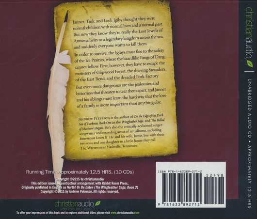 North Or Be Eaten Unabridged Audio Book On Cd Andrew Peterson