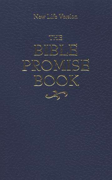 The NLV Bible Promise Book, paperback, blue