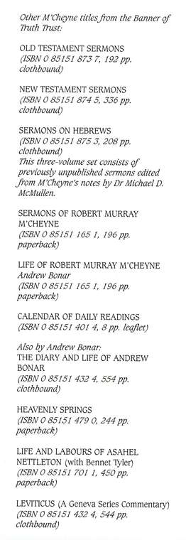 Memoirs & Remains of McCheyne