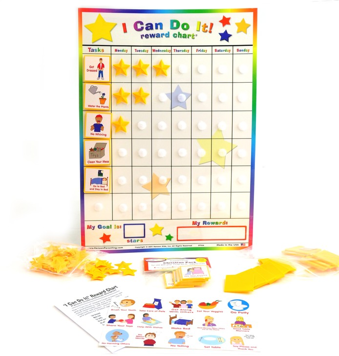 I Can Do It! Reward Chart with Christian Living Pack, Ages 3+