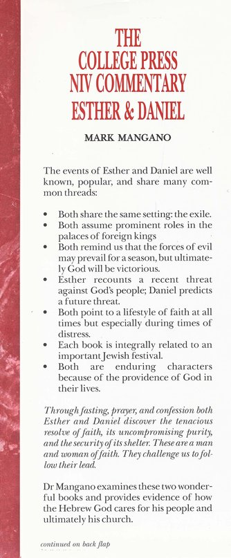 Esther and Daniel: The College Press NIV Commentary