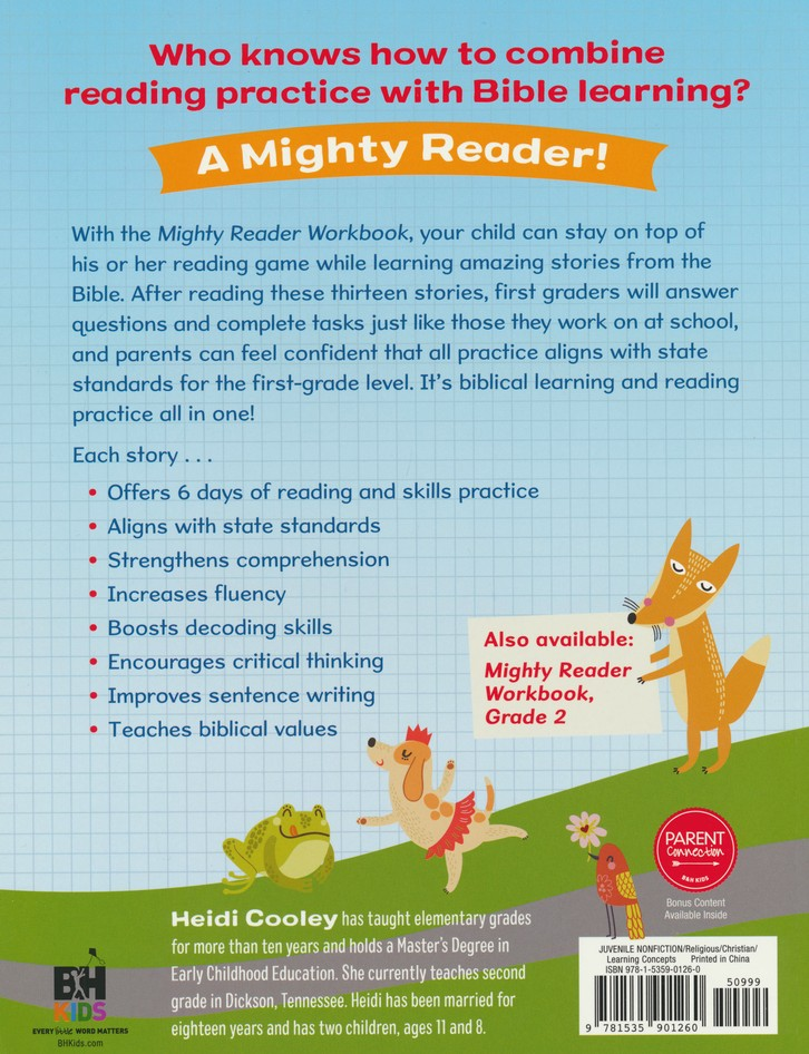Mighty Reader Workbook: First Grade Reading And Skills Practice With  Favorite Bible Stories: Heidi Cooley: 9781535901260 - Christianbook.com