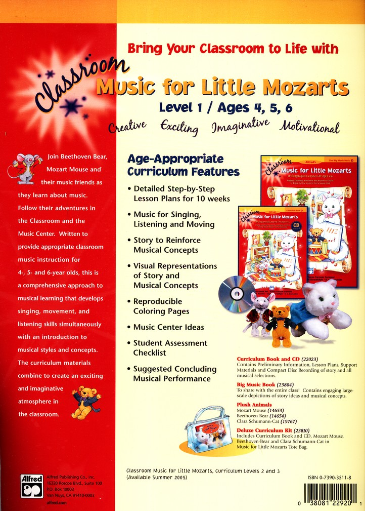 Music for Little Mozarts Classroom Curriculum Book 1  & Audio CD