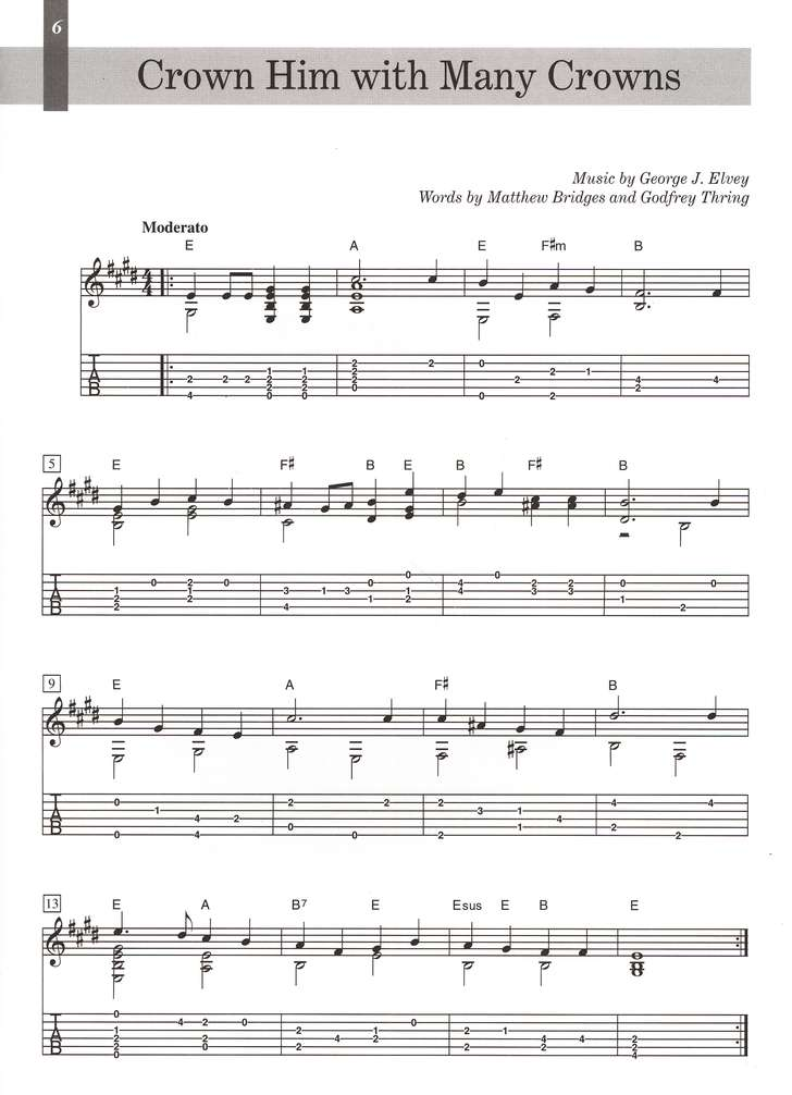 Hymns for Guitar: 14 Easy Solos and Duets: 0739037781 ...