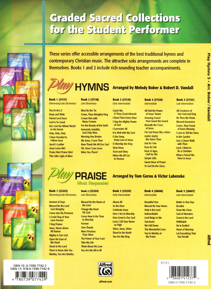 Play Hymns, Book 5: 9 Piano Arrangements of Traditional Favorites