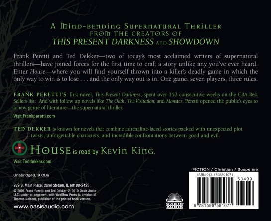 House  Audiobook on CD