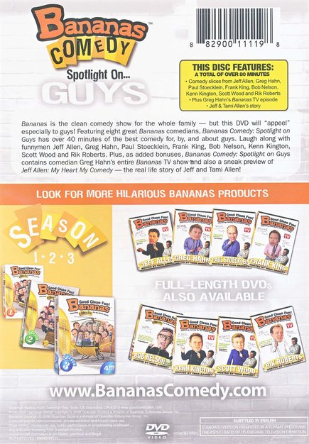 Bananas Comedy: Spotlight On Guys, DVD
